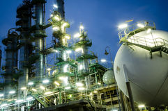 Sphere gas tank  and column towers Stock Image