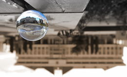 Sphere glass ball building Royalty Free Stock Images