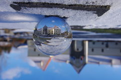 Sphere glass ball castle Stock Photography