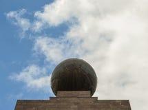 sphere, globe, monument Mitad del mundo, ecuador line royalty free stock photos