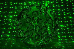 Sphere glowing circle green black abstraction Royalty Free Stock Photography