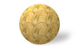 Sphere of gold Royalty Free Stock Photos