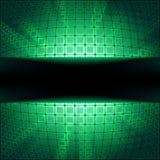 Sphere with green illumination. EPS 8 Stock Image