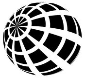 Sphere with grid of squares / Textured 3d sphere icons. Royalty free vector illustration Royalty Free Stock Image