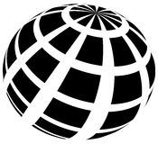 Sphere with grid of squares / Textured 3d sphere icons. Royalty free vector illustration Royalty Free Stock Photos