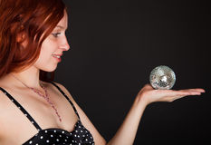 Sphere in a hand Royalty Free Stock Photos