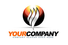 Sphere Heat Logo Royalty Free Stock Image