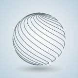Sphere icon design Stock Images
