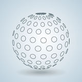 Sphere icon design Royalty Free Stock Image