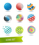 Sphere icon set. Isolated on background Royalty Free Stock Image
