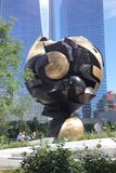 The Sphere. An iconic sculpture recovered from the rubble after the September 11 attacks in 2001. Since August 2017, it is located in Liberty Park, an elevated Stock Photos