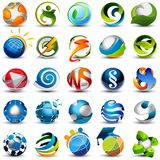 Sphere icons. Set of vector 3d icons vector illustration