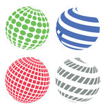 Sphere icons. Colorful illustration  with  abstract sphere icons on white background Stock Photos