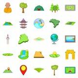 Sphere icons set, cartoon style. Sphere icons set. Cartoon set of 25 sphere vector icons for web isolated on white background royalty free illustration