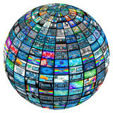 Sphere of images Stock Images