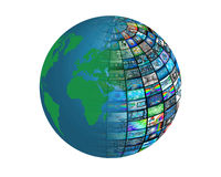 Sphere of images Royalty Free Stock Photos