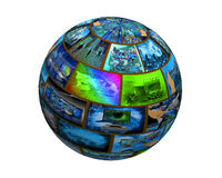 Sphere of images Stock Photo