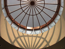 Sphere of Influence. The shapes and patterns are interesting when one looks up while standing in an atrium at a community center in Texas royalty free stock photography
