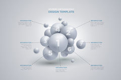 Sphere infographics template Royalty Free Stock Images