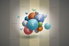 Sphere infographics Stock Photography