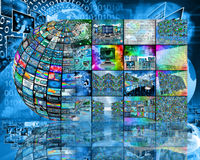 Sphere and internet Stock Images