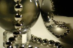 Sphere with jewels. The  sphere with jewels on a neutral background Stock Photography