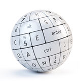 Sphere from keyboard keys Royalty Free Stock Photos