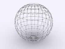 Sphere in Lattice Stock Image