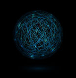 Sphere of lines Stock Image