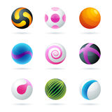 Sphere logo design Royalty Free Stock Image