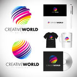 Sphere Logo, Sphere Colorful Icon, Sphere Design Vector Royalty Free Stock Photos