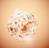 Sphere of love Royalty Free Stock Photo