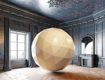 Sphere in the luxury room Stock Images