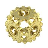 Sphere made of cogwheel gears isolated Stock Photos
