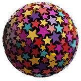 Sphere made of color stars. Royalty Free Stock Photos