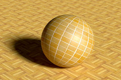 Sphere made of glazed tile on floor Royalty Free Stock Photography