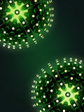 Sphere made of green beer bottles  on emerald backround. 3d sphere made of green beer bottles  on green backround. Beer event poster template. render Stock Images