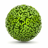 Sphere made of numbers - Stock Images