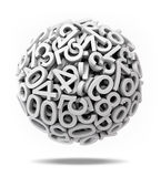 Sphere made of  numbers Stock Image