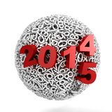 Sphere made of numbers on white background Royalty Free Stock Photo