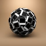 Sphere made of photo. Royalty Free Stock Photography