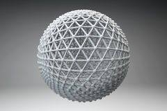 Sphere made of smaller spheres connected by strands Stock Photography