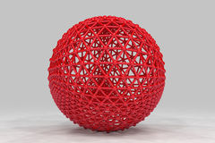 Sphere made of smaller spheres connected by strands Royalty Free Stock Photography