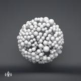 sphere mall för vektor 3d abstrakt illustration spheres 3d Royaltyfria Bilder
