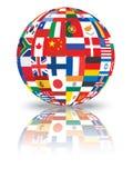 Sphere med flaggor Royaltyfri Bild
