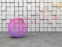 Sphere mesh Royalty Free Stock Image
