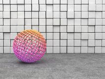 Sphere mesh Royalty Free Stock Images