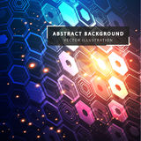 Technology abstract background. Futuristic technological style. Sphere is a mesh vectorial structure. Geometric figures built by a grid. Technology abstract stock illustration