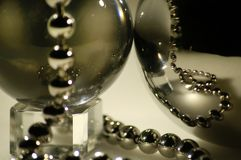 The  sphere with jewels. The  sphere with metal  jewels Stock Images