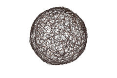 Sphere from a metal wire Stock Photography